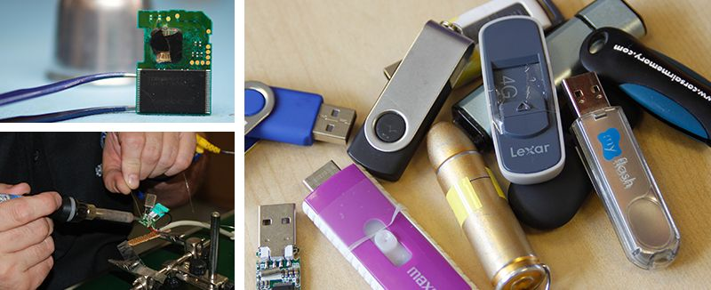 USB flash drive repair service