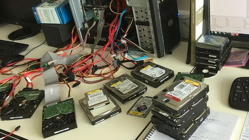Hard disks declared unrecoverable